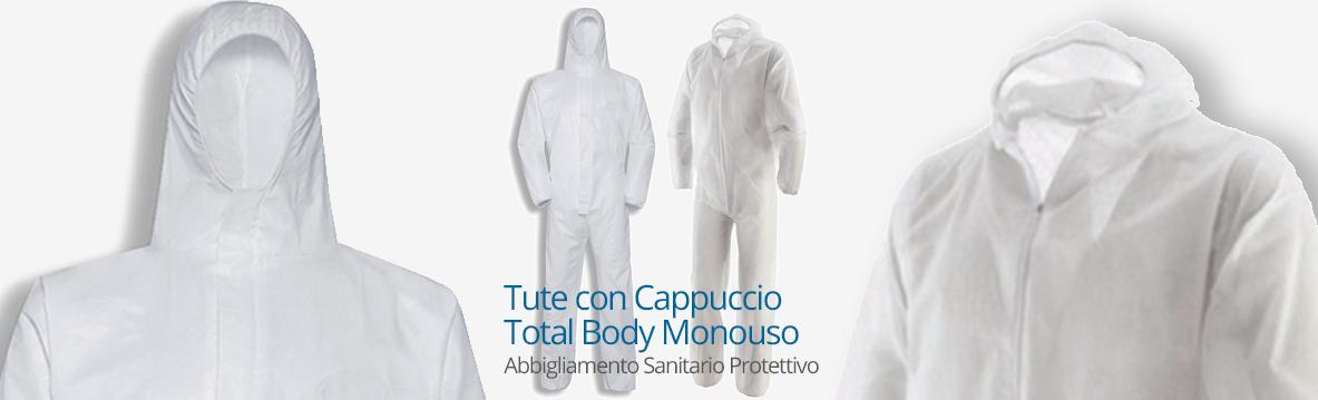 Tuta con cappuccio Total Body | Monouso | Abbigliamento-Sanitario-Protettivo