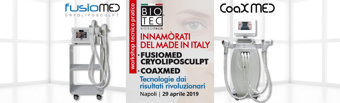 SAVE THE DATE workshop gratuito MEDINOVA FUSIOMED CRYOLIPOSCULPT e COAXMED Napoli | lunedì 29 aprile 2019 | ore 9.30
