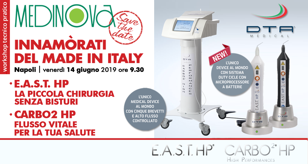 workshop gratuito 2019 MEDINOVA: CARBO2 HP |  E.A.S.T. HP