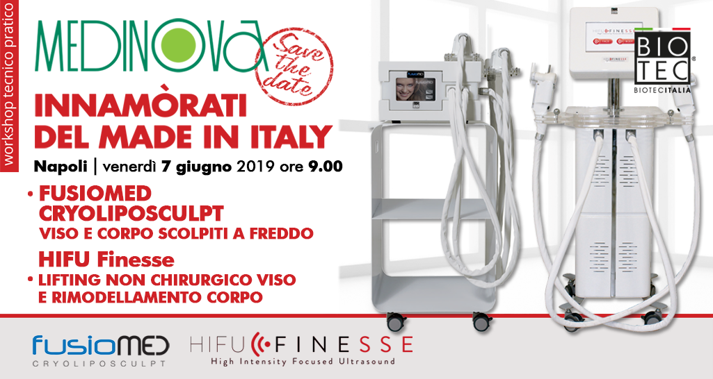 workshop gratuito 2019 MEDINOVA: FUSIOMED CRYOLIPOSCULPT | HIFU Finesse